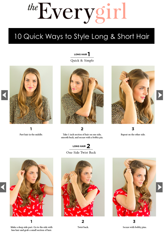 Quick Ways To Style Short Hair 10 Quick Ways To Style Long & Short Hair  Gal Meets Glam