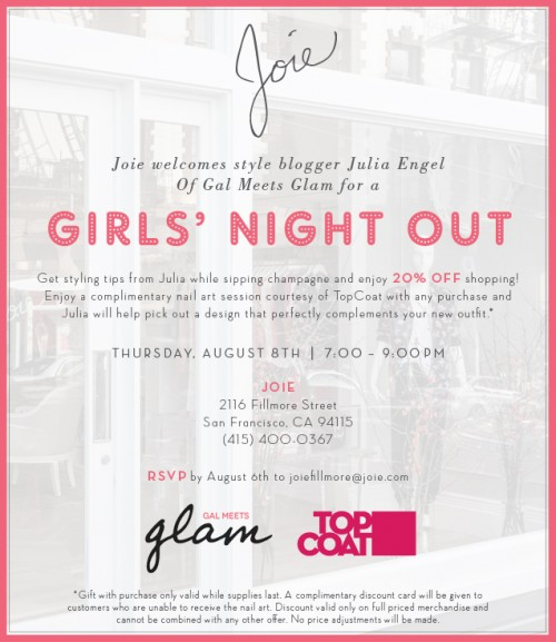 Girls' Night Out With Joie