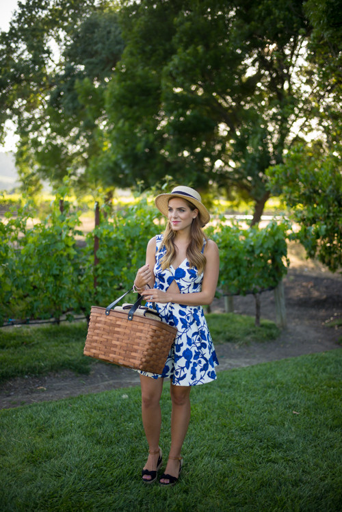 California Wine Country Picnic Dress