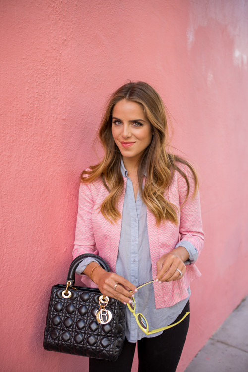 Pink Peplum Jacket Outfit