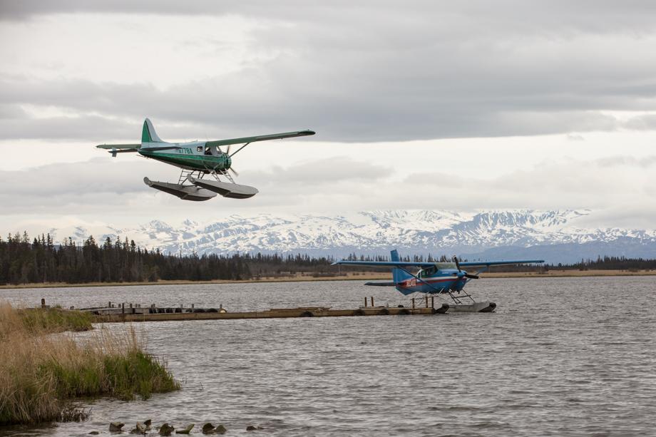 Homer alaska beluga lake floatplane landing