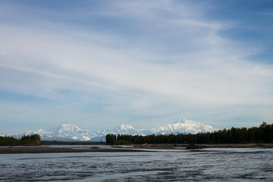 Mt McKinley no cloud from Talkeetna Alaskan Lodge