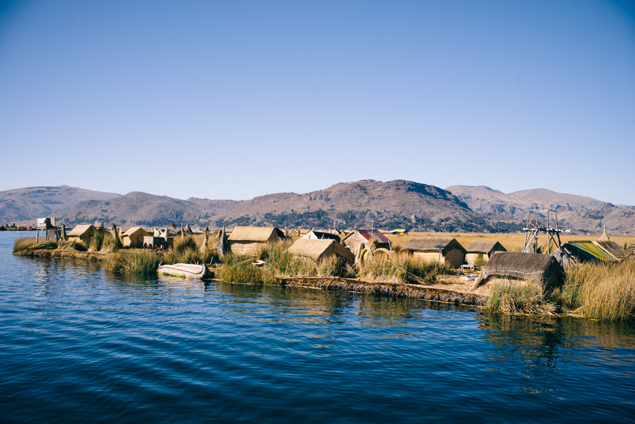 Uros Floating Islands in Lake Titicaca Peru