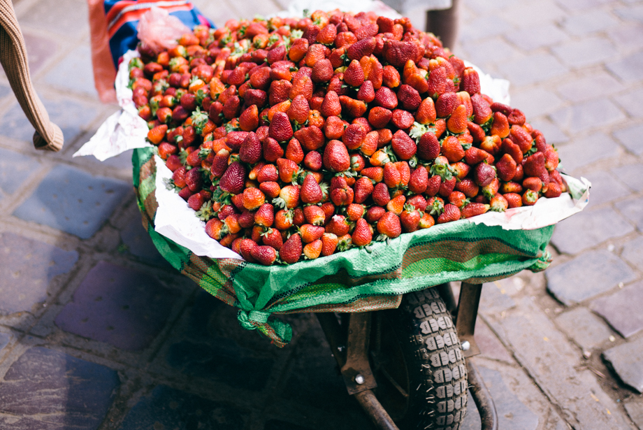 Peruvian Strawberries at San Pedro Market Cusco Peru