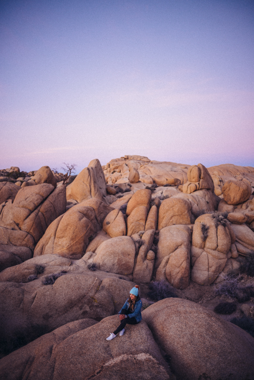 Sunrise at Jumbo Rocks Joshua Tree National Park