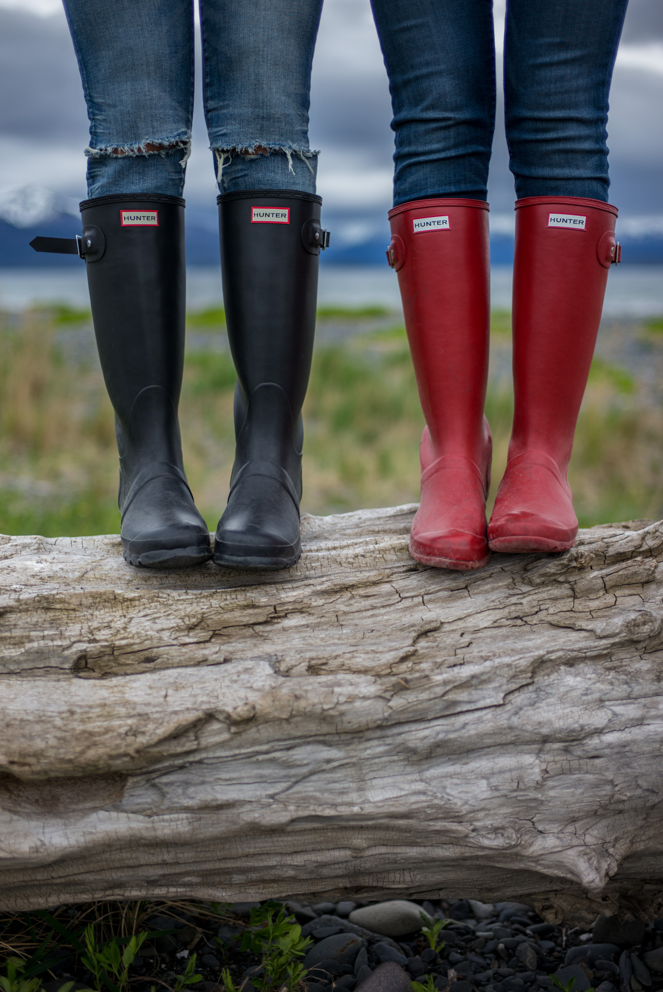 Red and Black Hunter Boots