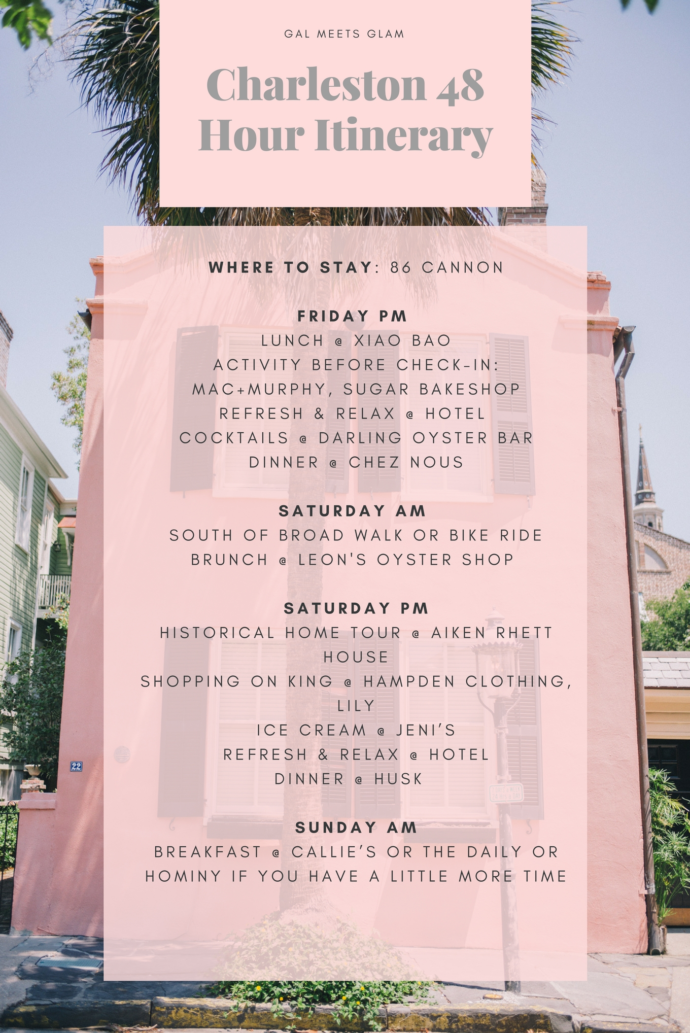 Charleston 48 Hour Itinerary