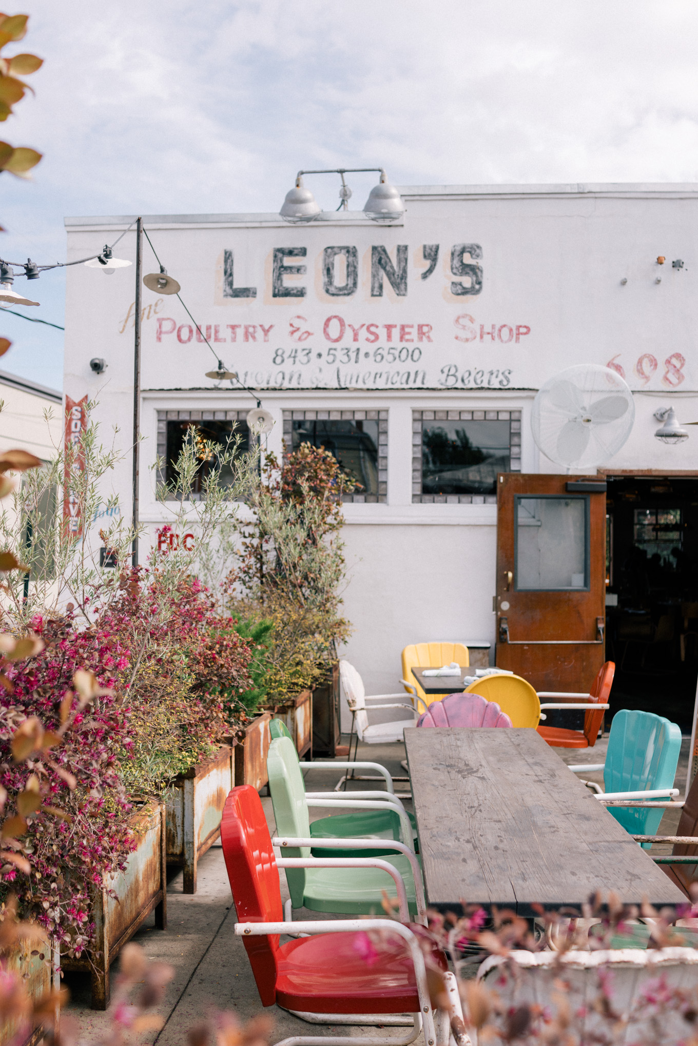 Charleston Itinerary where to eat leons oyster shop