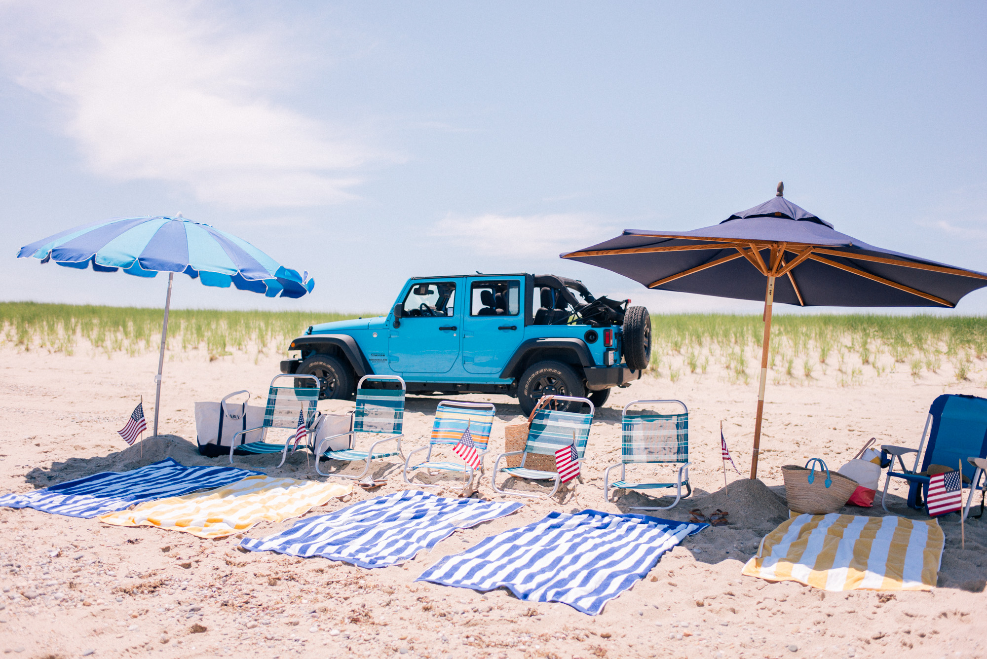 Great Point Beach Nantucket Offroad beach setup