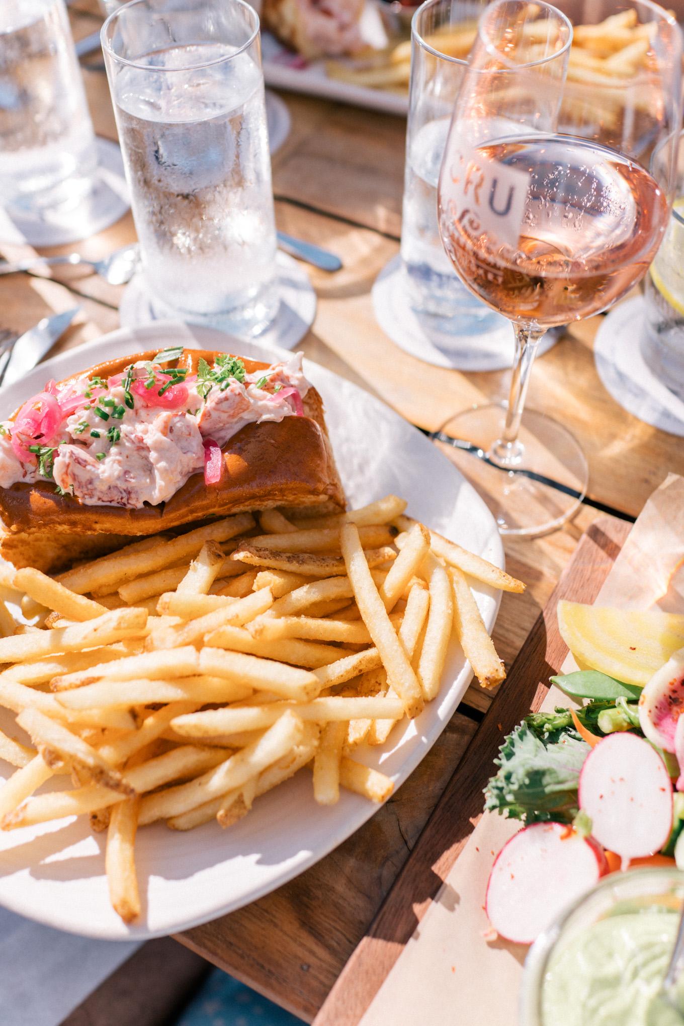 Cru Nantucket Lobster Roll and Fries