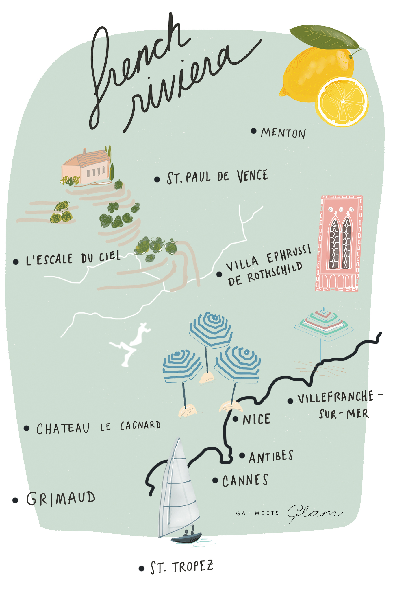 Ultimate Gal Meets Glam French Riviera Itinerary