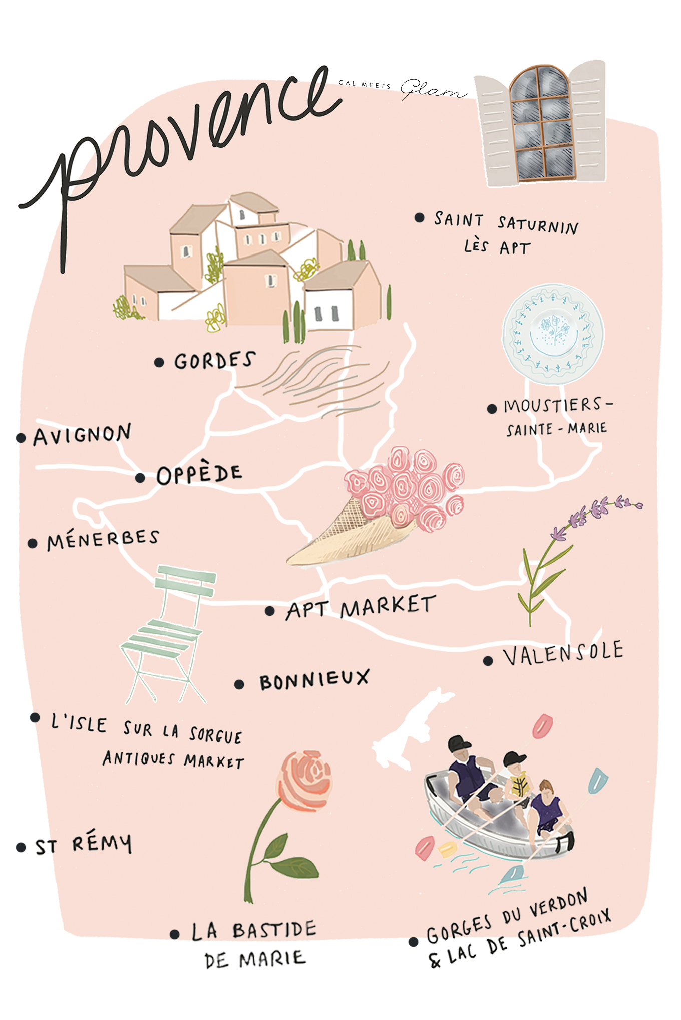 Provence Map Of France.Provence French Riviera Itinerary Gal Meets Glam