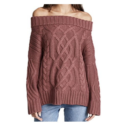 J.O.A. off the shoulder sweater