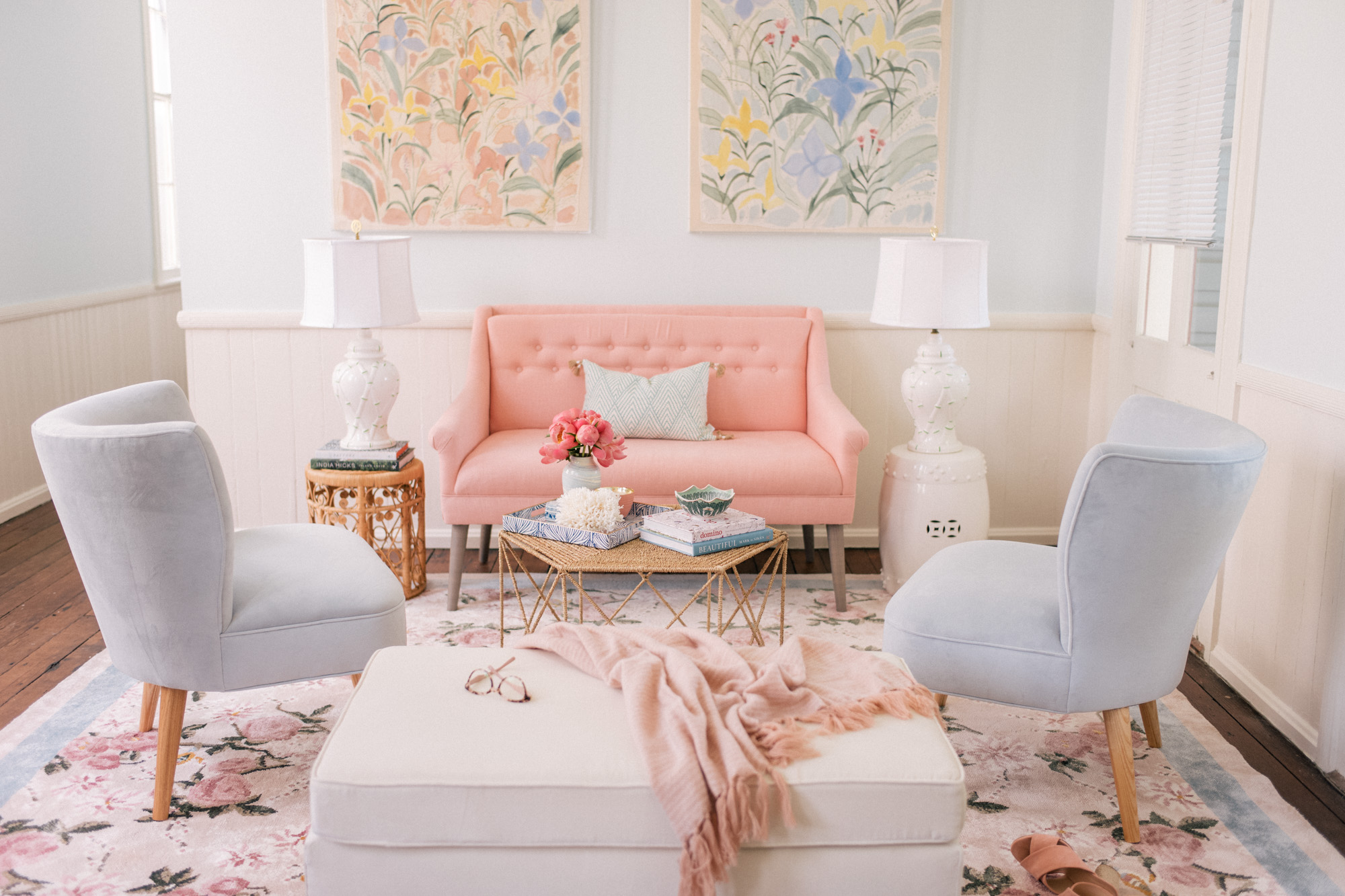 c6f3487846eb The Gal Meets Glam  Garden Party  rug I designed with Lulu   Georgia is now  available to purchase! I gave a few sneak peeks over the past few months  showing ...