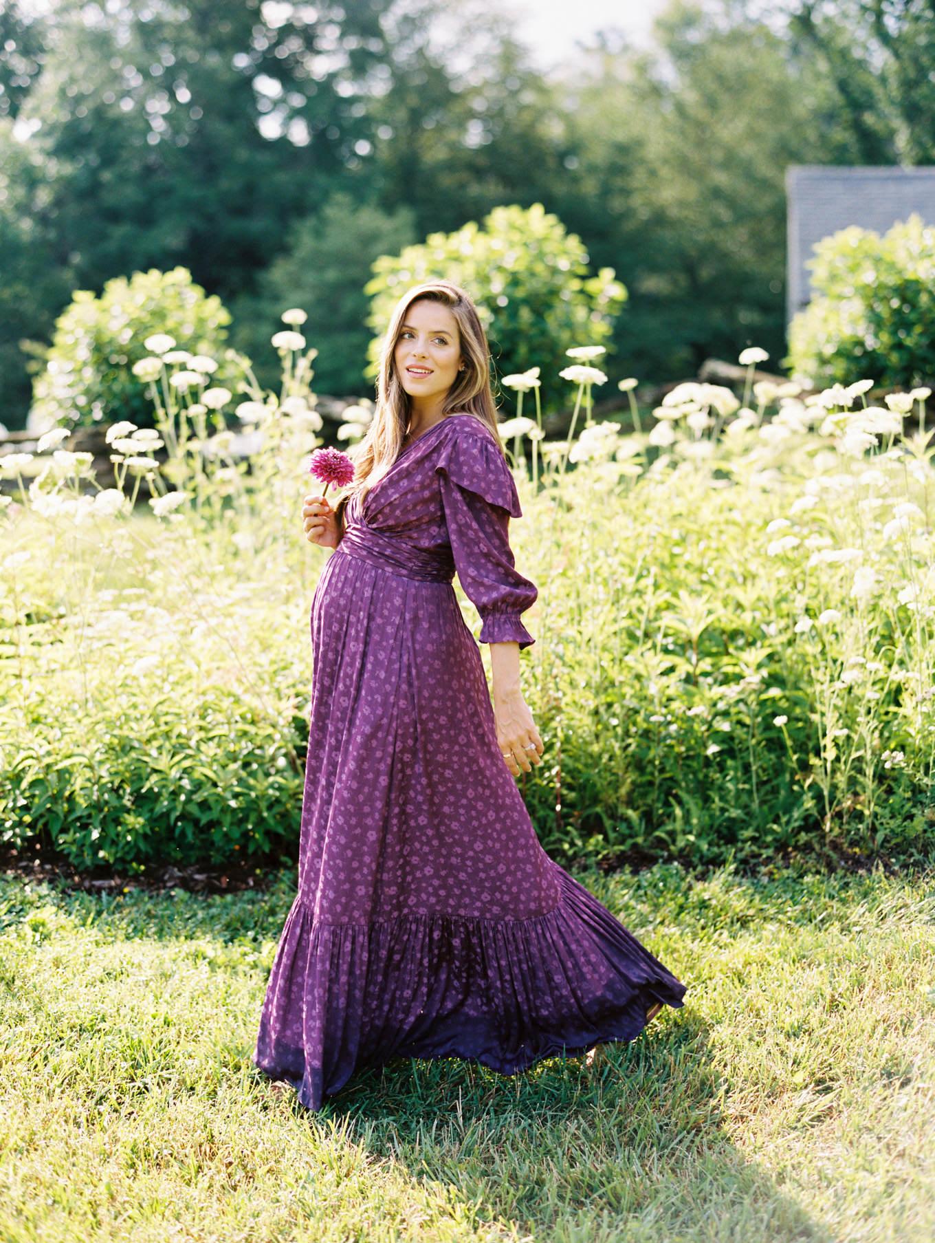 summer purple dress