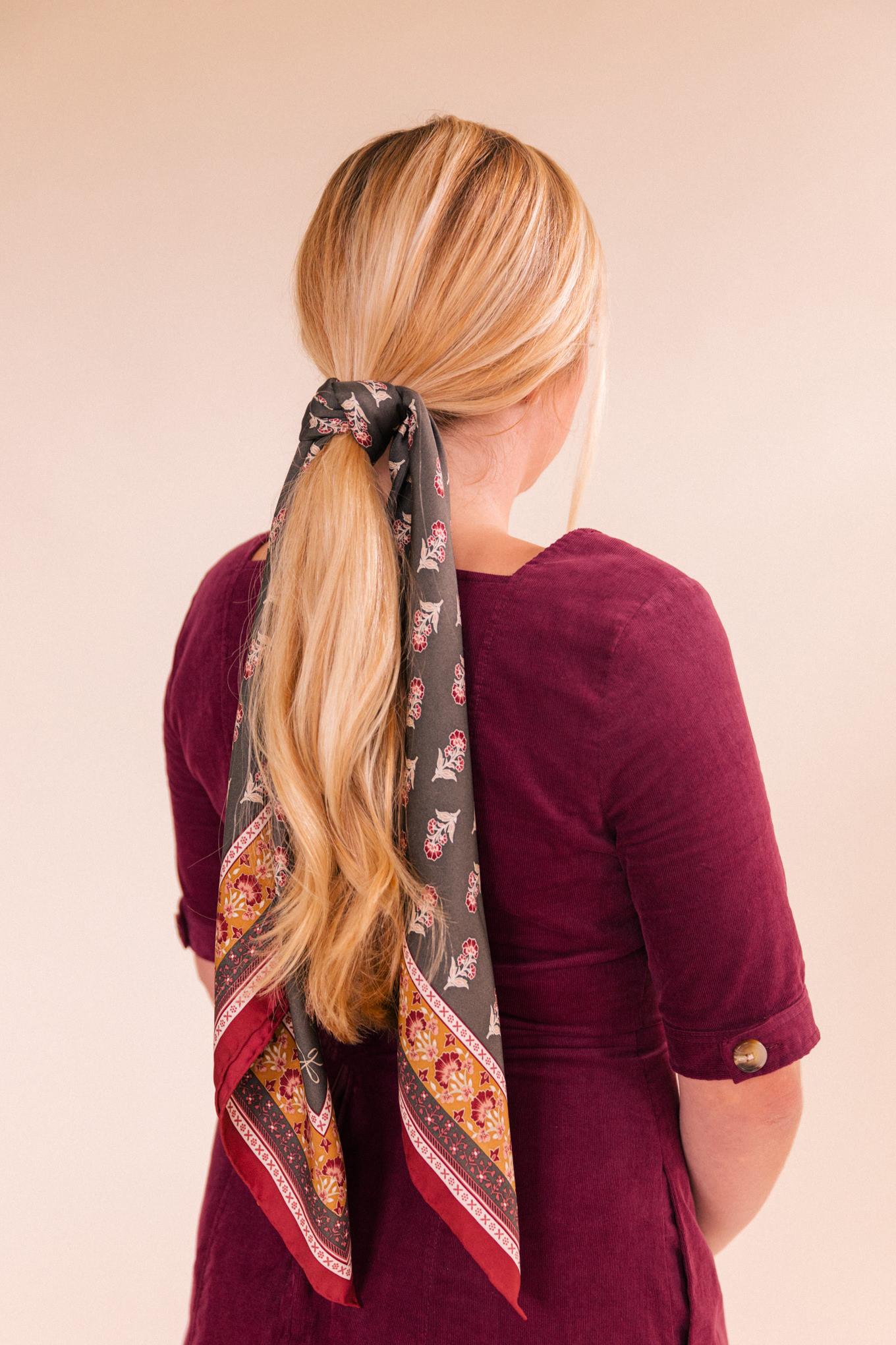 scarf hair style