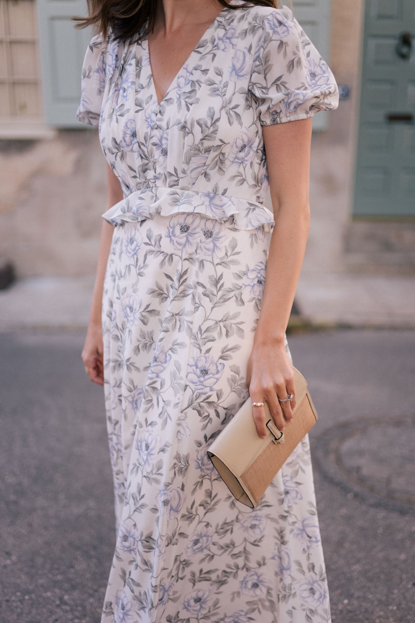cassidy long floral dress