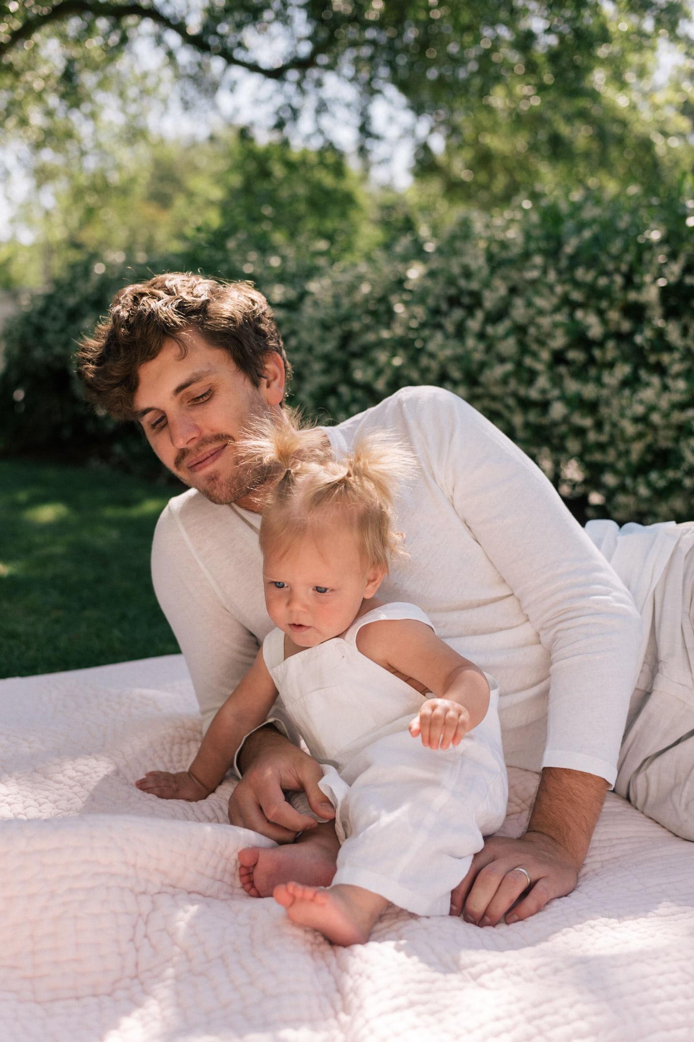 white summer linen