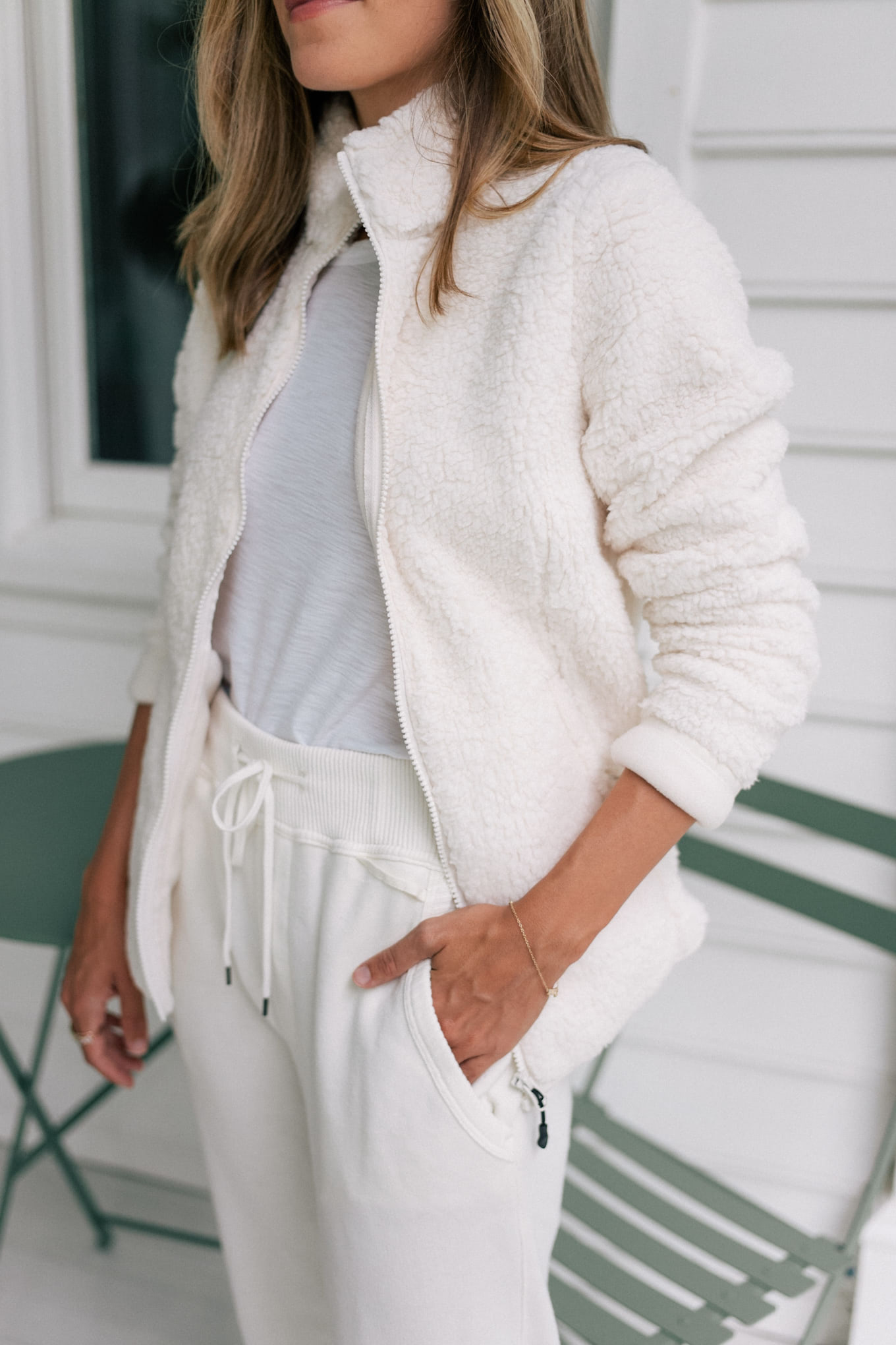 white loungewear set