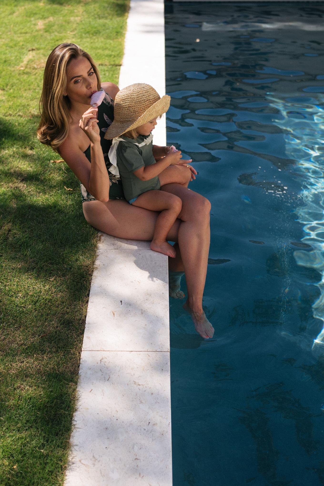 Green summer swimming
